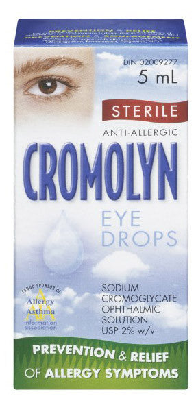 CROMOLYN OPHTHALMIC SOL 5ML - Queensborough Community Pharmacy