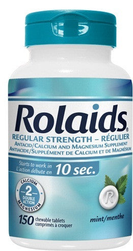 ROLAIDS REG STRENGTH MINT TABS 150'S - Queensborough Community Pharmacy