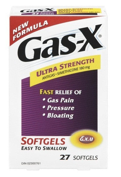 GAS-X ULTRA SOFTGELS 27'S - Queensborough Community Pharmacy