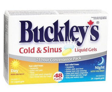 BUCKLEY'S DAY & NIGHT COLD & SINUS LIQ GELS 48'S - Queensborough Community Pharmacy