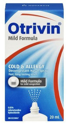 OTRIVIN SPRAY PED .05% 20ML - Queensborough Community Pharmacy