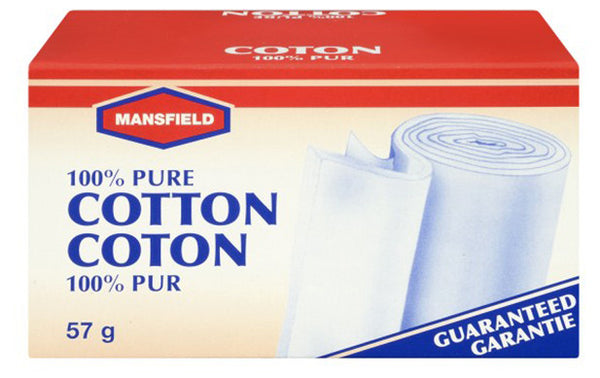 MANSFIELD PURE COTTON ROLL (2 OZ) 57G - Queensborough Community Pharmacy