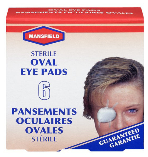 MANSFIELD STERILE OVAL EYE PADS 6/BOX - Queensborough Community Pharmacy