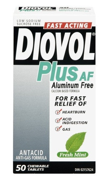 DIOVOL TABS PLUS MINT ALM FREE 50'S - Queensborough Community Pharmacy