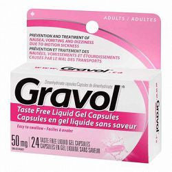 GRAVOL LIQUID GEL 50MG 24'S - Queensborough Community Pharmacy