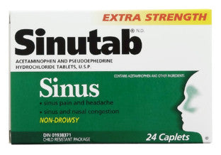 SINUTAB SINUS X-STR 24'S - Queensborough Community Pharmacy
