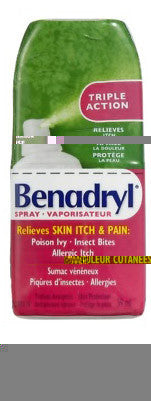 BENADRYL ITCH SPRAY 59ML - Queensborough Community Pharmacy