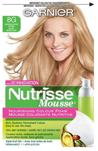 Garnier Nutrisse Mousse Med Golden Blonde 8g