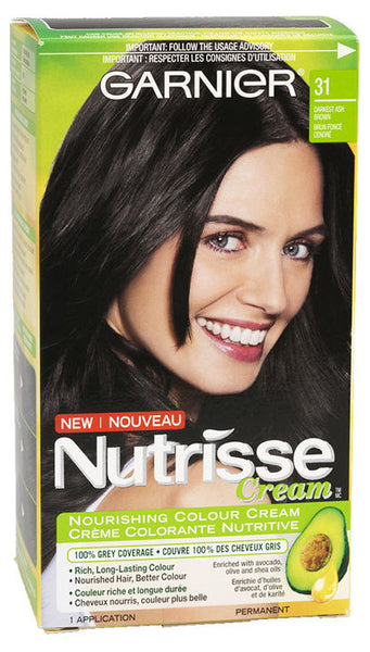 GAR NUT DARKEST ASH BROWN #31 GARNIER NUTRISSE CREAM 1'S - Queensborough Community Pharmacy