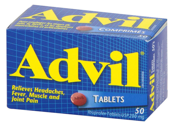 ADVIL TABS 200MG 50'S - Queensborough Community Pharmacy