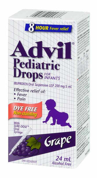 ADVIL PEDIATRIC DROPS DYE FREE 24ML - Queensborough Community Pharmacy