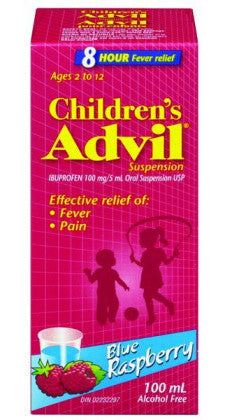 ADVIL FOR CHILD BLUE RASPBERRY FLAVOR 100ML - Queensborough Community Pharmacy