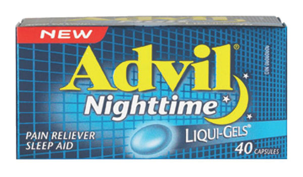 ADVIL NIGHTTIME LIQUI-GELS 40'S - Queensborough Community Pharmacy