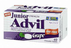 ADVIL JR STR GRAPE DYE FREE 40'S - Queensborough Community Pharmacy