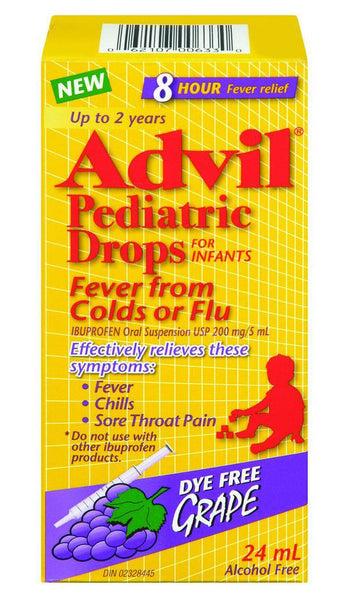 ADVIL PEDIATRIC DROPS FEVER FROM COLDS OR FLU 24ML - Queensborough Community Pharmacy