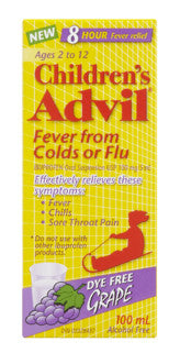 ADVIL FOR CHILD FEVER FROM COLDS ORFLU 100ML - Queensborough Community Pharmacy