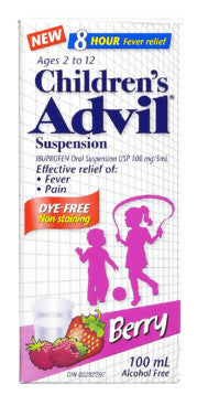 ADVIL FOR CHILD DYE FREE SUSP BERRY100ML - Queensborough Community Pharmacy