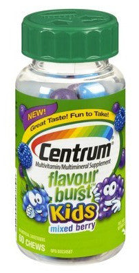 CENTRUM FLAVOURBURST KIDS MIXED BERRY 60'S - Queensborough Community Pharmacy