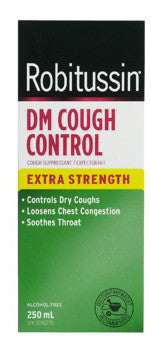 ROBITUSSIN DM COUGH CTRL X-STR 250ML - Queensborough Community Pharmacy
