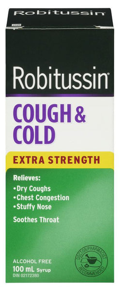 ROBITUSSIN C + C X-STR 100ML - Queensborough Community Pharmacy