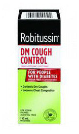 ROBITUSSIN DM COUGH CONTROL FOR PEOPLE WITH DIABETES 115ML - Queensborough Community Pharmacy