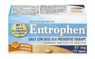 ENTROPHEN CHEWABLES 81MG 120'S - Queensborough Community Pharmacy