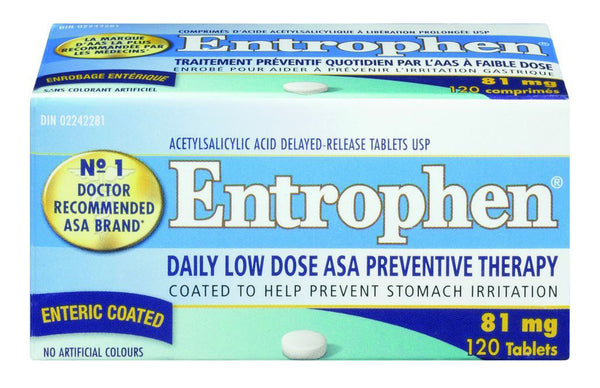 ENTROPHEN EC 81MG 120'S - Queensborough Community Pharmacy