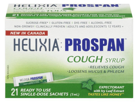HELIXIA COUGH SYR SINGLE DOSE 21/5ML - Queensborough Community Pharmacy
