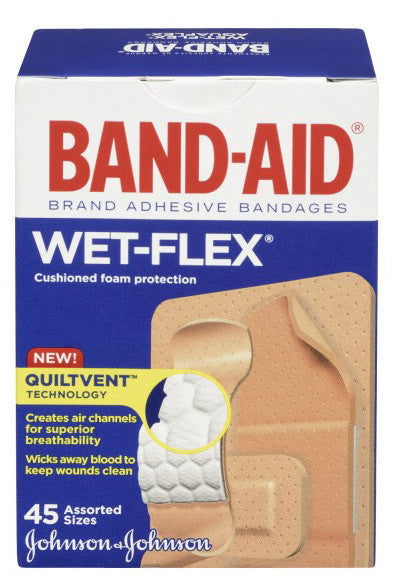 J&J BAND-AID WETFLEX 45'S - Queensborough Community Pharmacy