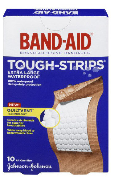 J&J BAND-AID WATERPROOF EXT LRG 10'S - Queensborough Community Pharmacy