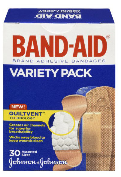 J&J BAND-AID VARIETY PACK 30'S - Queensborough Community Pharmacy