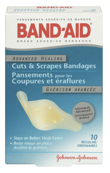J&J BAND-AID ADV HEAL REGULAR CUTS & SCRAPES 10'S - Queensborough Community Pharmacy