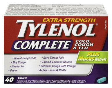 TYLENOL COMPLETE CAPLETS 40'S - Queensborough Community Pharmacy