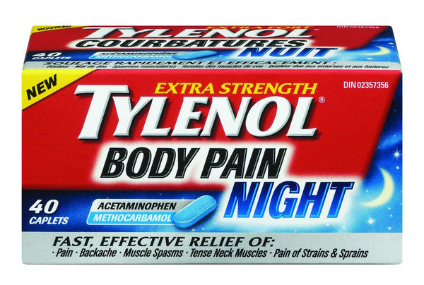 TYLENOL BODY PAIN NIGHT 40'S - Queensborough Community Pharmacy