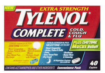 TYLENOL COMPLETE DAY/NIGHT TABS 40'S - Queensborough Community Pharmacy