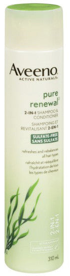 AVEENO ACTIVE NAT PURE RENEWAL 2 IN1 SHAMPOO & CONDITIONER 310ML - Queensborough Community Pharmacy