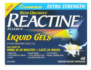 REACTINE LIQ GELS X-STR 40'S - Queensborough Community Pharmacy