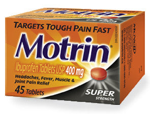 MOTRIN IB SUPER STRENGTH TABS 400MG45'S - Queensborough Community Pharmacy
