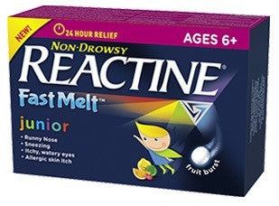 REACTINE JUNIOR FAST MELT 24'S - Queensborough Community Pharmacy