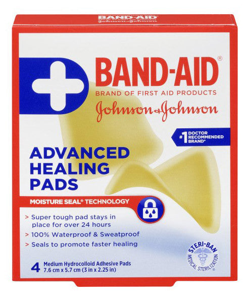 BAND-AID ADVANCED HEALING PADS 4'S - Queensborough Community Pharmacy