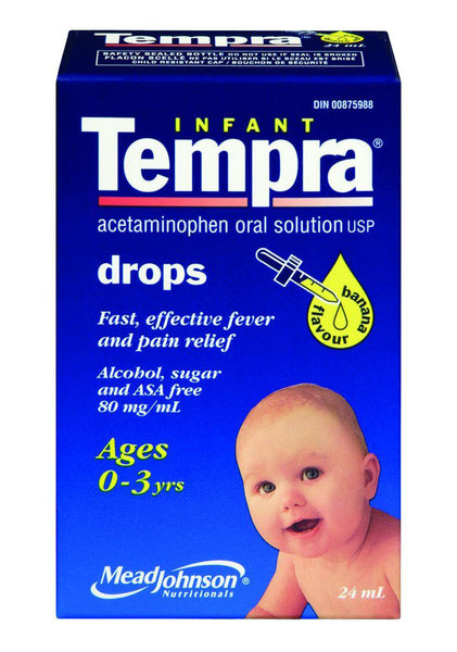 TEMPRA DROPS BANANA 24ML - Queensborough Community Pharmacy