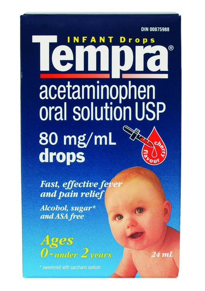 TEMPRA DROPS CHERRY 24ML - Queensborough Community Pharmacy