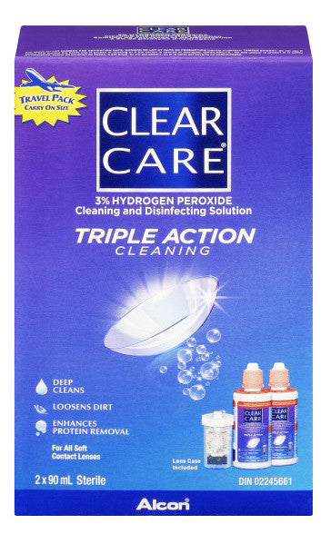 CLEAR CARE TRAVEL PACK 2/90ML - Queensborough Community Pharmacy