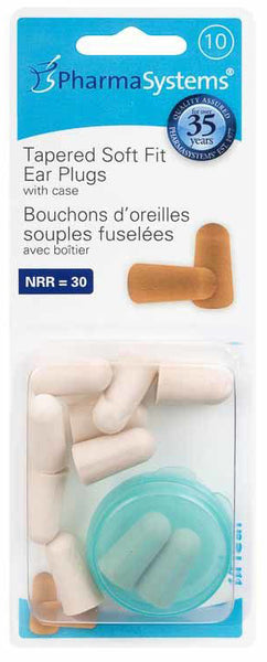EAR PLUGS SOFT FIT TAN 10'S TAPERED PS844 - Queensborough Community Pharmacy