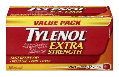 TYLENOL X-STR 500MG TABS 200'S - Queensborough Community Pharmacy