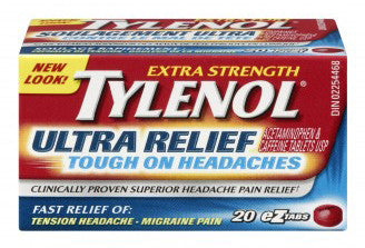 TYLENOL TABS ULTRA RELIEF 20'S - Queensborough Community Pharmacy