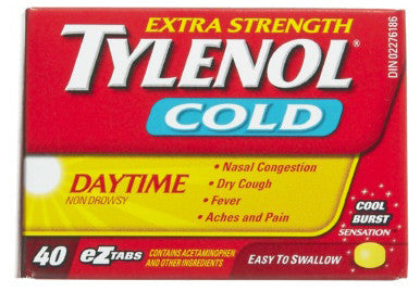 TYLENOL COLD X-STR DAY TABS 40'S - Queensborough Community Pharmacy