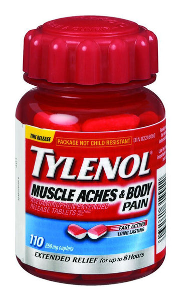 TYLENOL MUSCLE & BACK PAIN 110'S - Queensborough Community Pharmacy