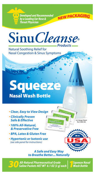 SINUCLEANSE SQUEEZE NASAL WASH KIT 1 - Queensborough Community Pharmacy