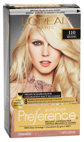 L'OREAL PREFERENCE VERY LITE ASH BLOND #110 - Queensborough Community Pharmacy